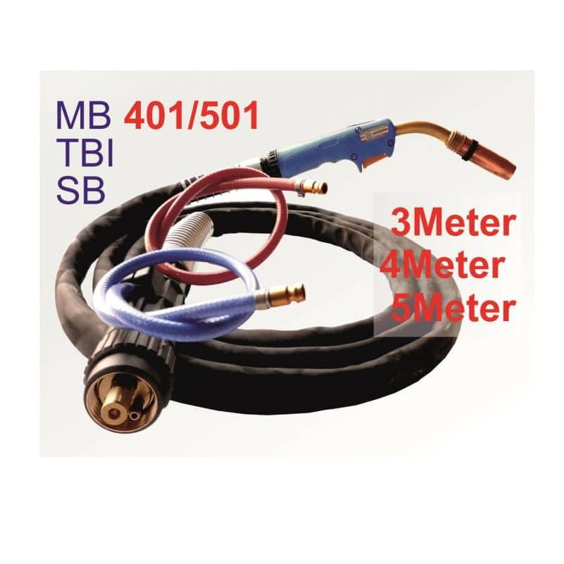 1x Brennerhals 1x Gasdüse 10x Stromdüse zu Schlauchpaket MB 15 Schweißbrenner